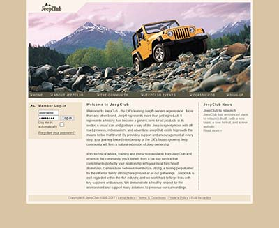JeepClub website, circa June 2008